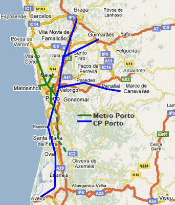 mapa lisboa porto De: José Silva