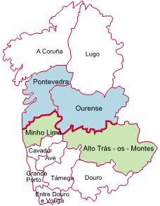 mapa da galiza e norte de portugal Regionalização mapa da galiza e norte de portugal