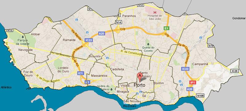 mapa freguesias concelho porto De: TAF
